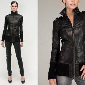 MACKAGE Black Leather NEV Jacket